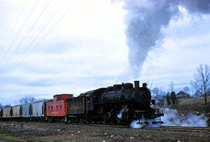 VBR 5 4039 Freight Piney River April 1959 3 WG