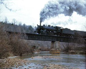 VBR 8 crossing Tye River at Roses Mill March 25 1961