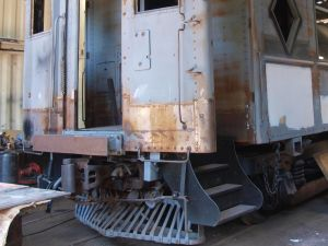 DLW Club car 3454 new steps installed Aug. 4 2016 SPHcropped382