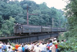 LackElec 40 Tri State NRHS Farewell 14 to MU Millington Trestle w 3454 in lead 8 19 1984 SPH