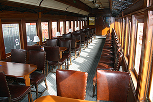 Inside view of the completely restored Jersey Coast.  Tickets to Ride This car are an Additional $3 each.