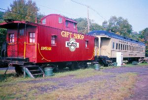 MCC PRR Cabin Car Gift Shop  Snack Car Nwfld Sept. 18 1976
