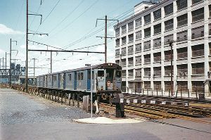 Crossing Gates - HM PRR Train at West Side Ave. Jersey City June 1961